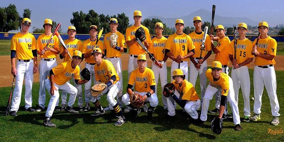 2015 BVH Baseball Team Picture